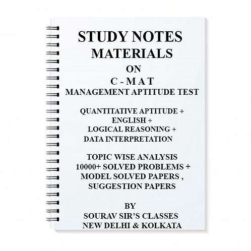 Study Notes Material On CMAT Management Aptitude Test