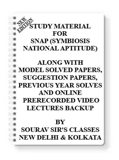 SNAP (SYMBIOSIS NATIONAL APTITUDE) Study Material + MODEL SOLVED PAPERS+SUGGESTI