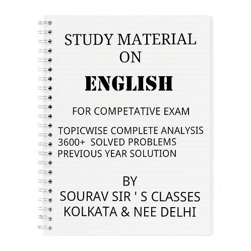 ENGLISH BOOK FOR COMPETATIVE EXAMINATION