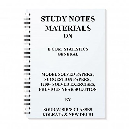 Study Material Notes On B.com Statistics General