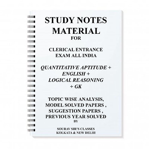 Clerical Entrance All India Exam Study Materials
