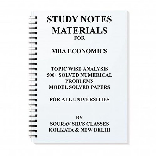 Study Notes Materials For MBA Economics