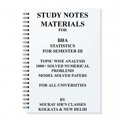 Study Materials For BBA Stat For Semester III