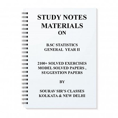 Study Material Notes On Bsc Statistics Year II