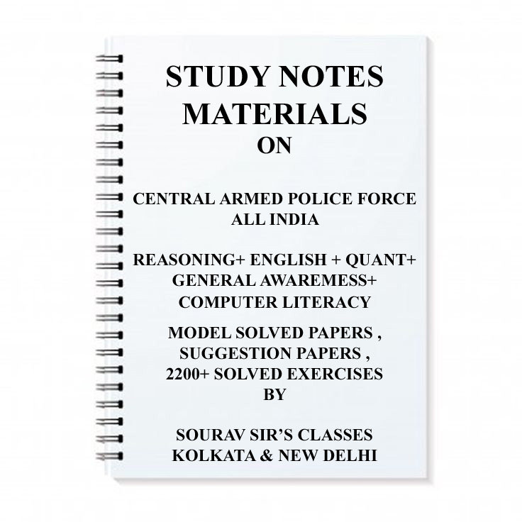 CENTRAL ARMED POLICE FORCE EXAM + TOPIC WISE ANALYSIS + MODEL SOLVED PAPERS