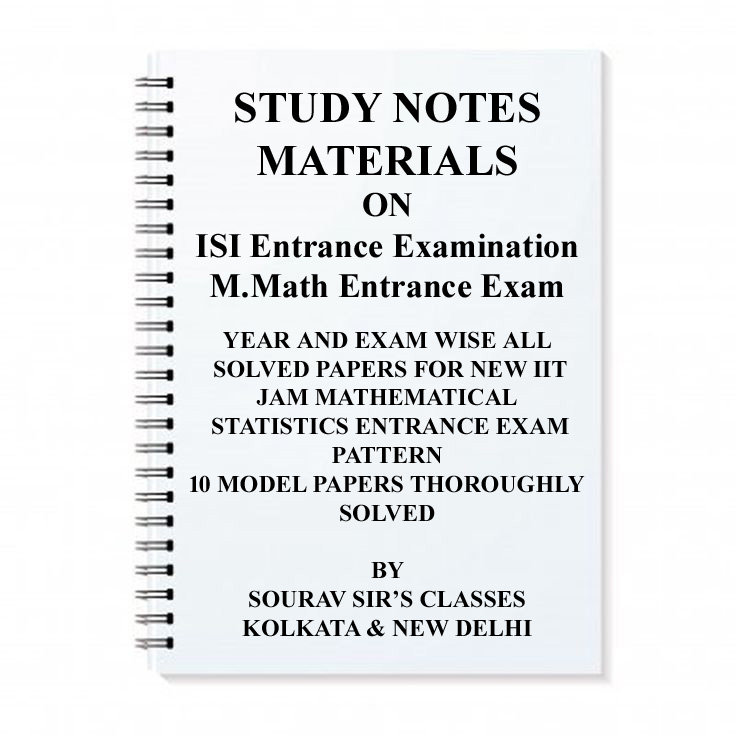 ISI M MATH ENTRANCE EXAM BOOK NOTES WITH 20 SOLVED MODEL PAPERS+MCQ +  PREVIOUS Y