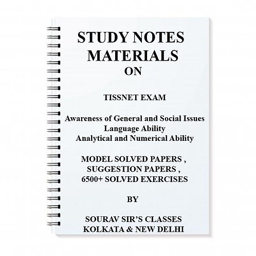 STUDY MATERIAL FOR TISSNET 2018 ENTRANCE