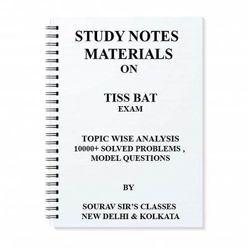 TISS BAT 2018 WITH MODEL SOLVED SAMPLE PAPERS NOTES