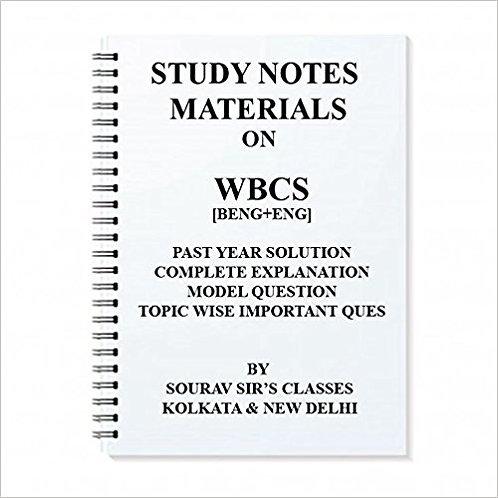 STUDY MATERIAL FOR WBCS (BENGALI + ENGLISH)