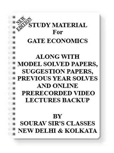 GATE ECONOMICS Study Material + MODEL SOLVED PAPERS+SUGGESTION PAPERS + PREVIOUS