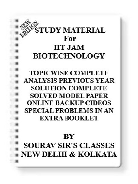 IIT JAM BIOTECHNOLOGY Study Material +MODEL SOLVED PAPERS+SUGGESTION PAPERS+PREV