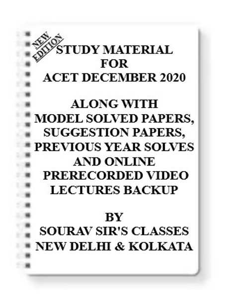 ACET DECEMBER 2020 Study Material + MODEL SOLVED PAPERS+SUGGESTION PAPERS + PREV