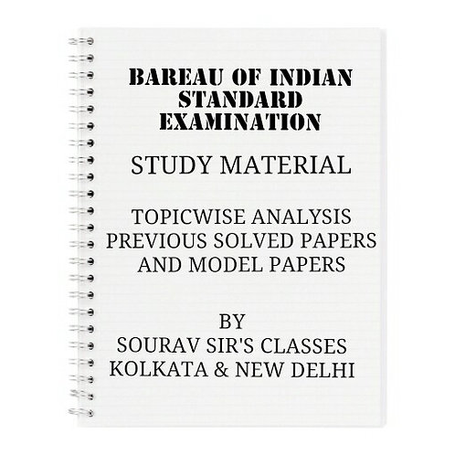 BAREAU OF INDIAN STANDARD EXAMINATION COMPLETE STUDY MATERIALS