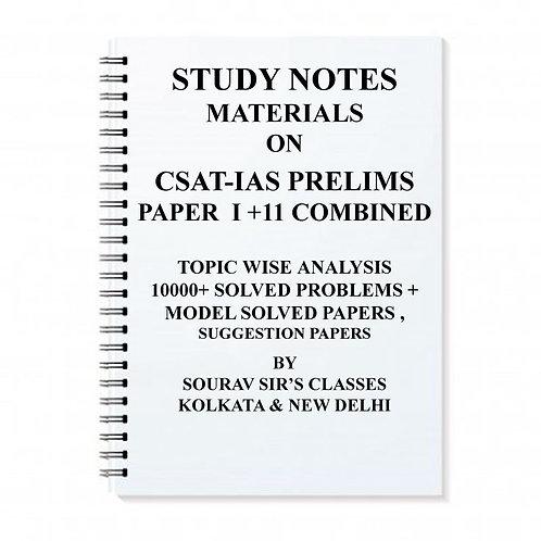 CSAT-IAS Prelims Paper I+II Combined study notes