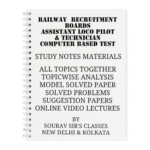 RAILWAY ASSISTANT LOCO PILOT & TECNICIAN COMPLETE STUDY MATERIALS