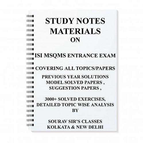 STUDY MATERIAL FOR ISI MSQMS WITH TOPIC WISE ANALYSIS +20 MODEL SOLVED PAPERS