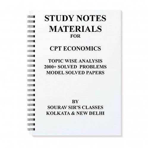 Study Notes Materials For CPT Economics