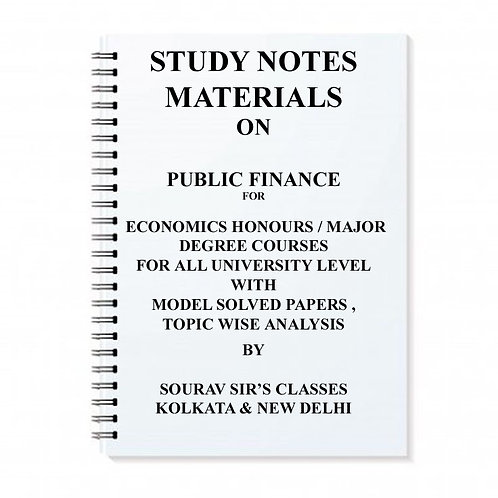 Study Notes Materials On Public Finance
