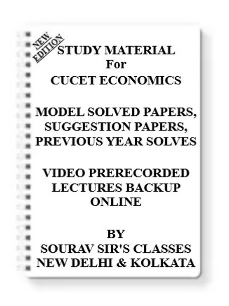 CUCET ECONOMICS Study Material + MODEL SOLVED PAPERS+SUGGESTION PAPERS + PREVIOU