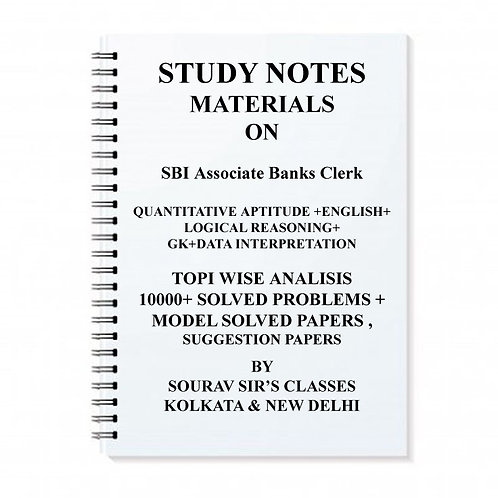 Study Notes Materials On SBI Associate Bank Exam
