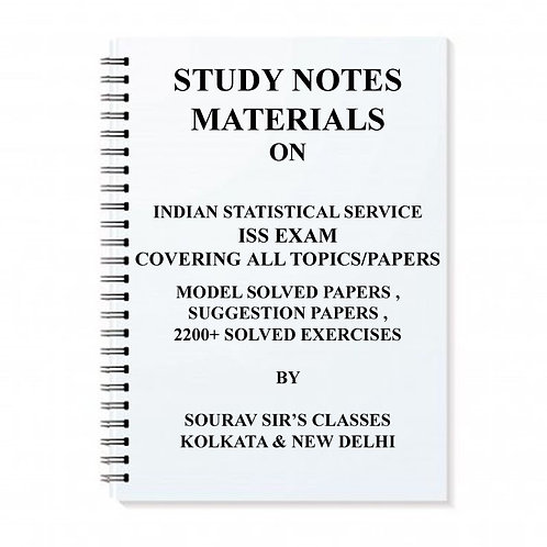 STUDY MATERIALS FOR INDIAN STATISTICAL SERVICE ISS [ PACK OF 8 BOOKS ] EXAM WITH