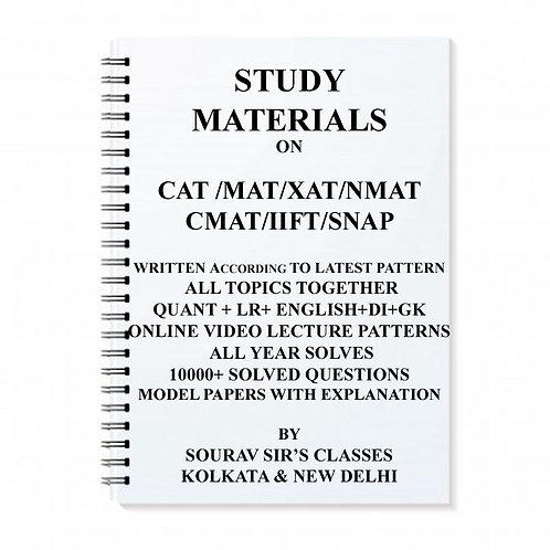 STUDY NOTES MATERIALS FOR ENTRANCE CAT /MAT/XAT/NMAT/CMAT/IIFT/SNAP