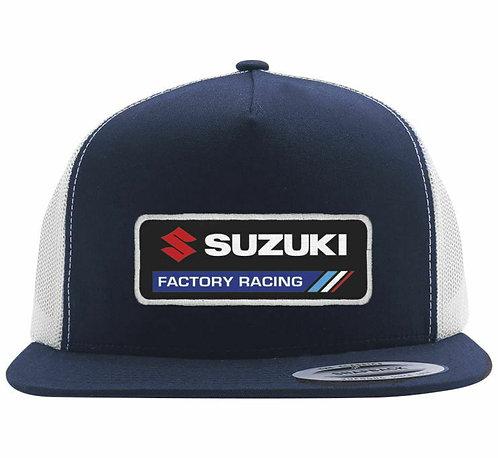 Suzuki Factory Racing Effex Snapback Hat - Blue/White
