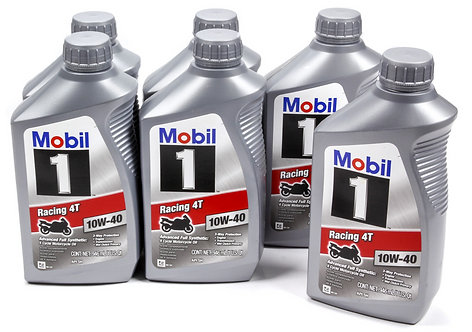 Mobil 1 Full Synthetic Motorcycle/ATV Oil, 1qt Bottle (Case of 6)