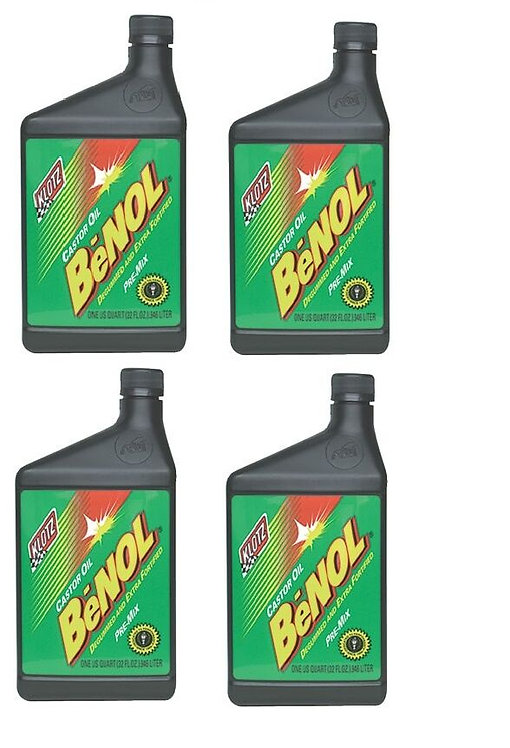 Klotz Benol Racing Castor 2 Stroke Oil, 32 oz (Case of 4)