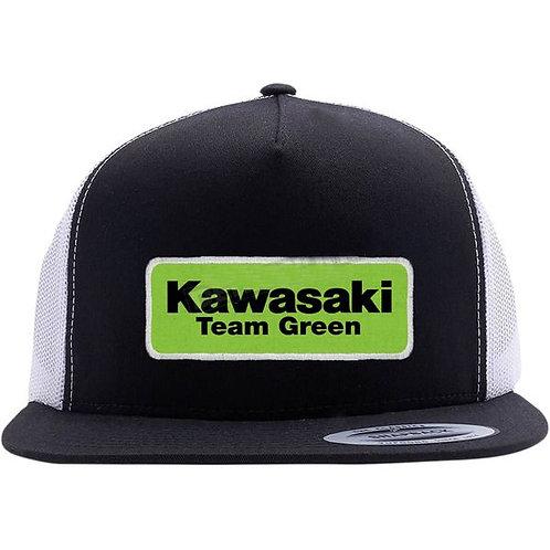 Kawasaki Team Green Effex Snapback Hat - Black/White