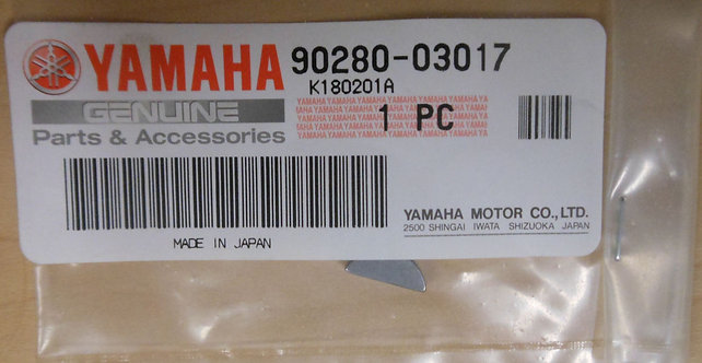 Genuine OEM Woodruff Key - Yamaha YT125G ATC