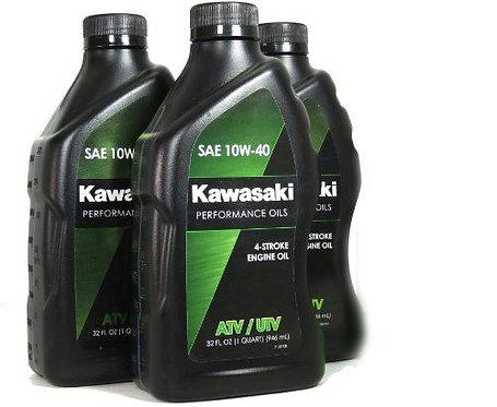 Kawasaki 4-Stroke ATV/Utility Engine Oil, 32 oz (Case of 3)