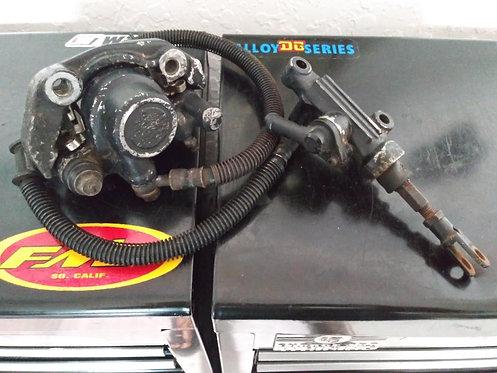OEM Rear Brake Caliper w Hose & Master Cylinder - Yamaha Tri-Z YTZ250 1985-1986