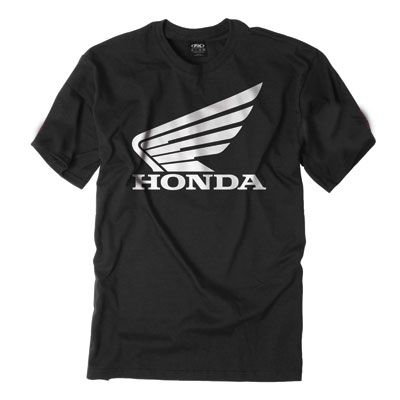 Honda Big Wing Custom T-Shirt - Black