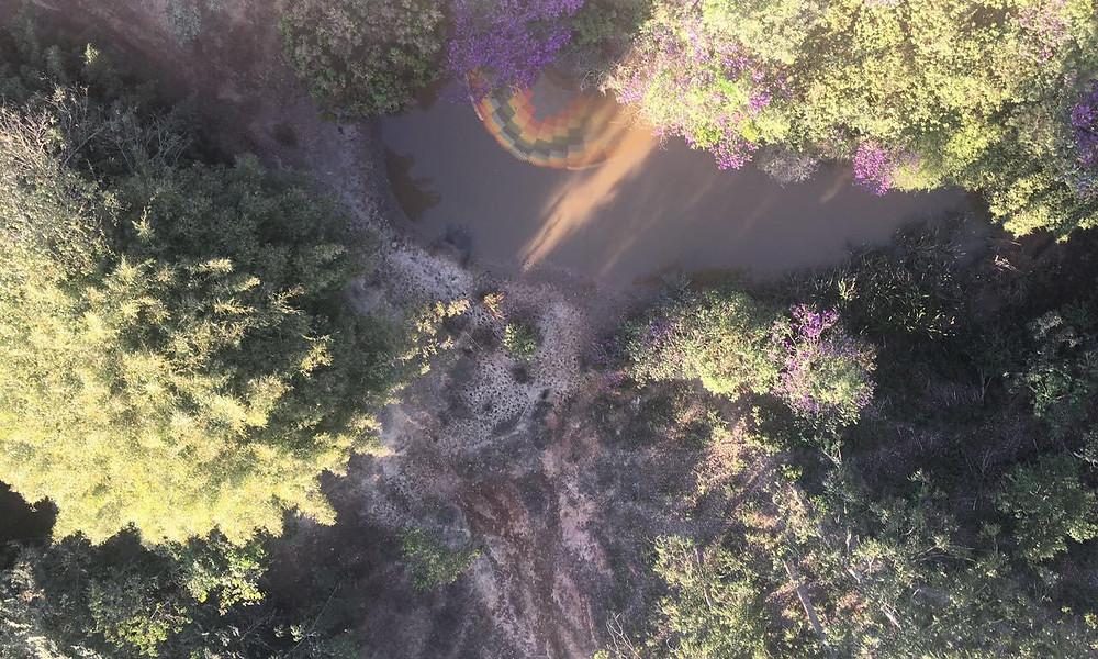 Cachoeiras da serra da Canastra vistos do Balão de Ar quente