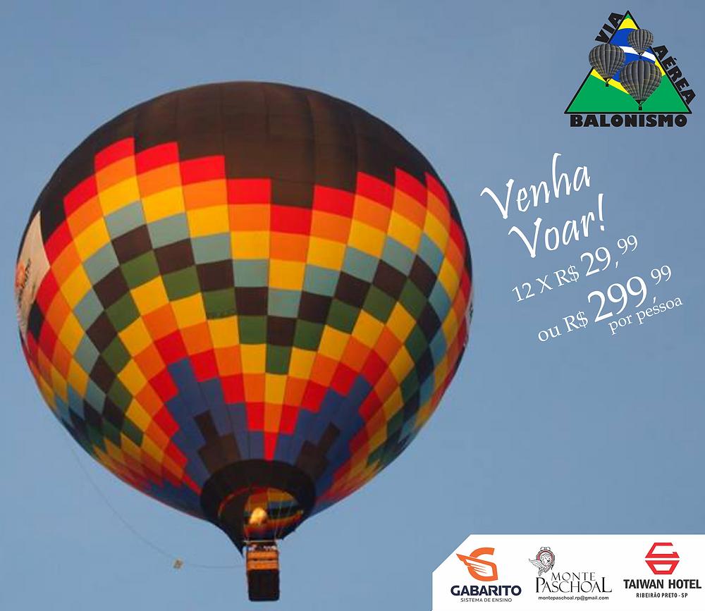 voo de balão em Ribeirão Preto SP