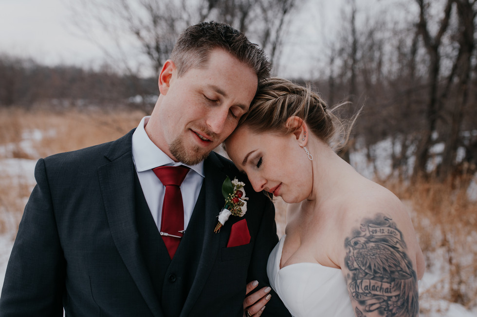 Winnipeg winter wedding