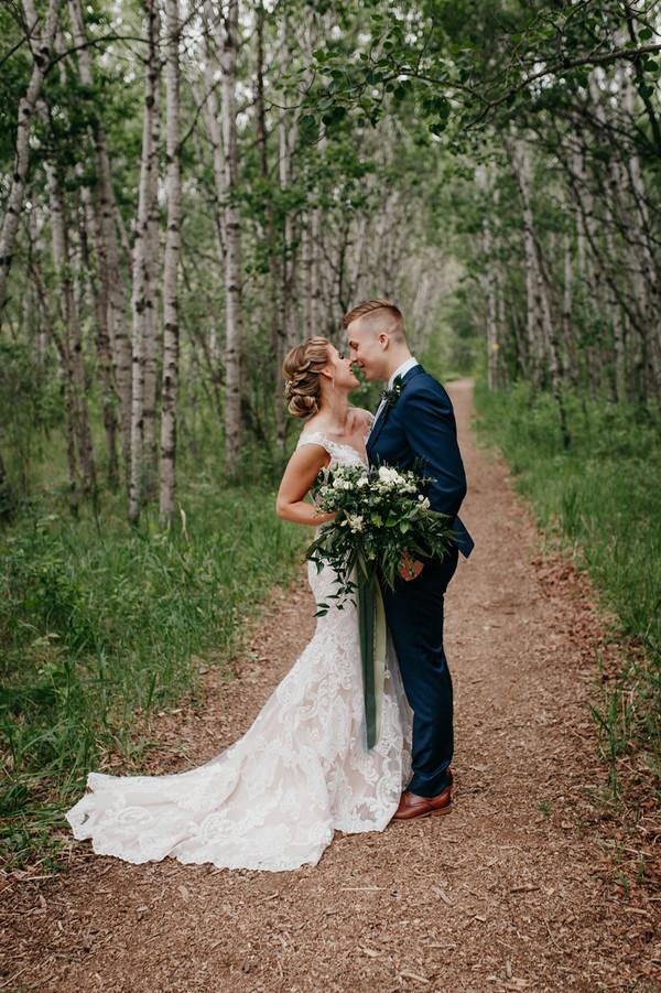 Stonewall Quarry Summer Wedding - Assiniboine Forest First Look