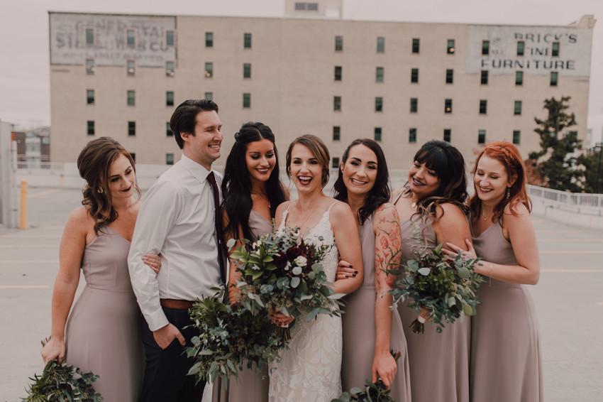 Cibo waterfront wedding - exchange district - green bouquet