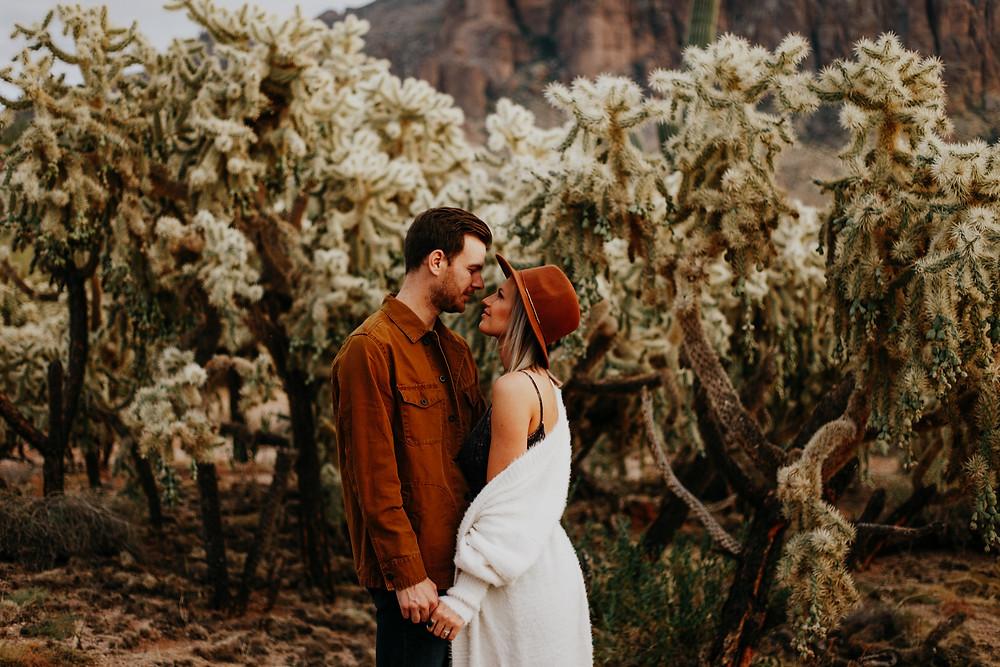 Madie + Brent - Superstition Mountains Engagement Photos, Arizona wedding photographer, desert engagement session