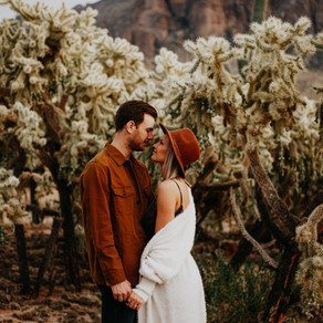 Superstition Mountains, Arizona Engagement Session