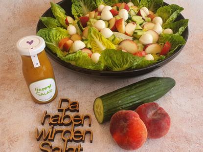 Sommersalat - Weinbergpfirsich - Gurke - Mozzarella