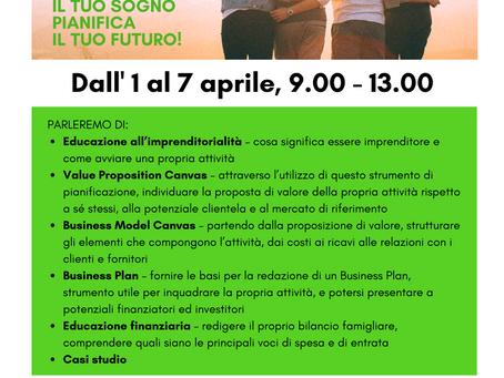 1-7 aprile, Formazione Online corso YES su Business Plan