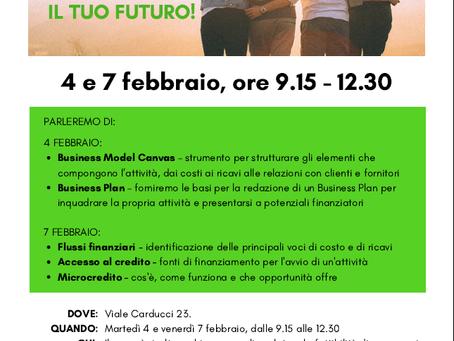 4 e 7 febbraio: conosci il Business Plan e le forme di finanziamento per la tua idea!