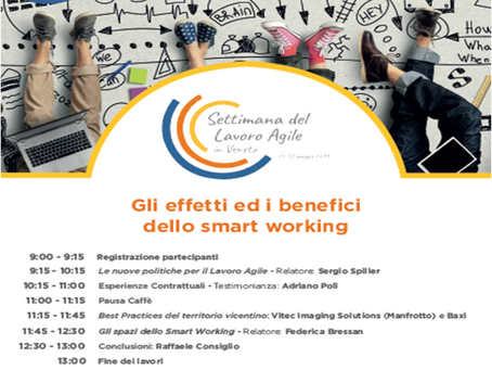 31 Maggio: workshop Effetti e Benefici dello Smart Working