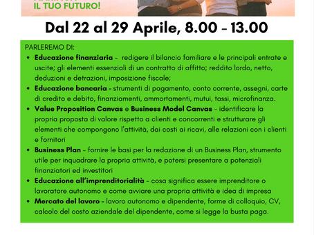 22-29 Aprile, nuovo corso Online per i giovani!