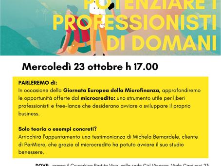"""23 Ottobre: workshop """"Potenziare i professionisti di domani"""""""