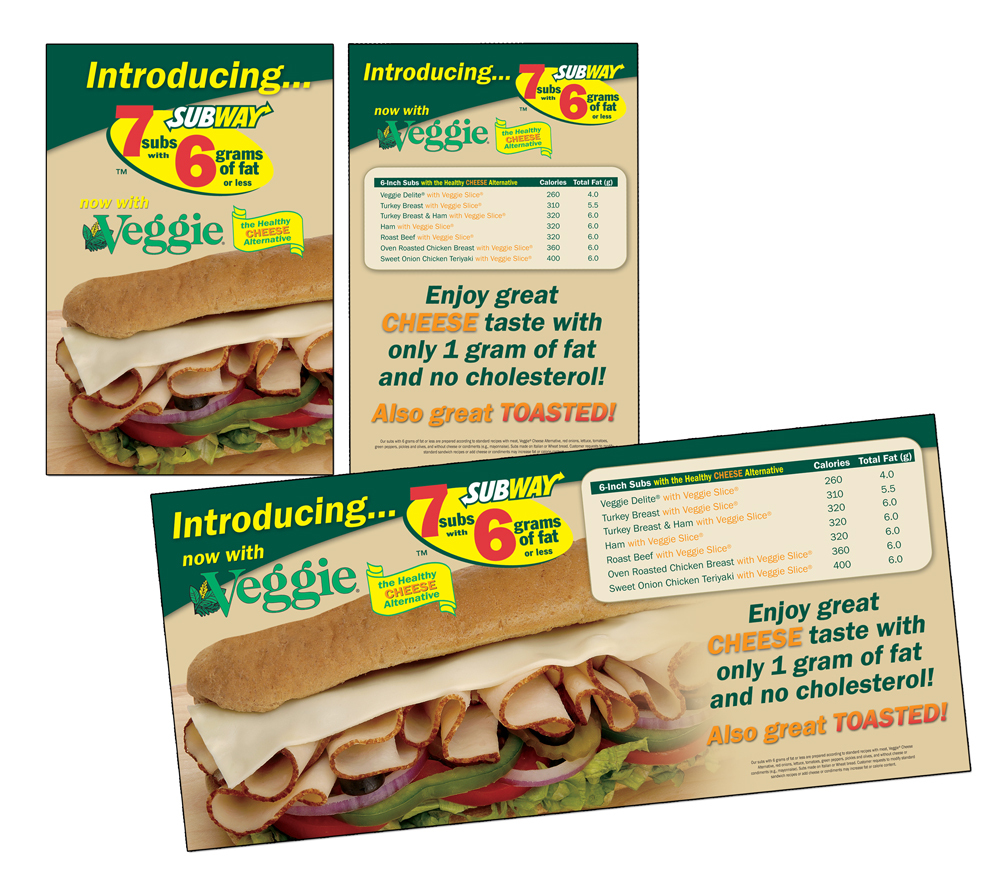 Subway Marketing Materials