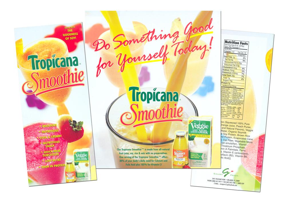 Tropicana Smoothie Brochure