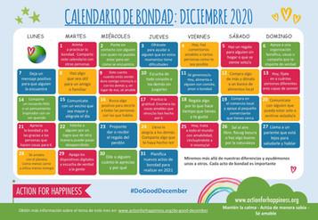 Calendario de buenas acciones 2020: Diciembre Amable: